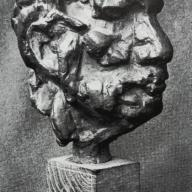 <strong>Klein portret Kees Verwey</strong> – 1961 – brons – 15 x 8 x 13 cm – particuliere collectie